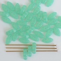 Cali Green Opal Green 61100 Czech Glass Beads x 25