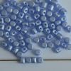 Minos Blue Alabaster Pastel Sapphire Light 02010-25014 Czech Glass Bead x 5g