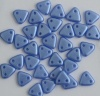Triangle Blue Pastel Sapphire Baby Blue Pearl Coat 02010-25015 Czech Beads x 10g