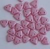 Triangle Pink Alabaster Pastel Pink Flamingo Pearl 02010-25008 Czech Beads x 10g
