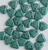 Triangle Green Teal Pearl Coat 02010-25027 Czech Beads x 10g