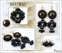 Pattern Puca Earring Ida uses Tinos Amos Arcos Cabochon Foc with bead purchase