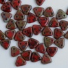Triangle Red Opaque Picasso 93200-43400 Czech Beads x 10g