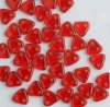 Triangle Red Siam Ruby Transparent 90080 Czech Beads x 10g