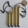 Beadable Stylus Touch Screen Tablets Phones Gold Or Chrome Rubber Tip