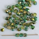 Fire Polished Green 3 4 6 8 mm Sunny Magic Crystal Emerald Lime00030-98003 Bead