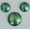 Cabochon Green Pearl Turquoise Grn 18mm 25mm 02010-11067 Czech Glass Bead x 1