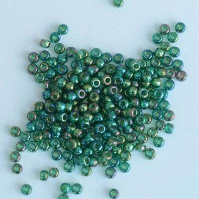 Miyuki Seed 0354 Green Size 11 8 Chartreuse Lined Green AB Bead 10g