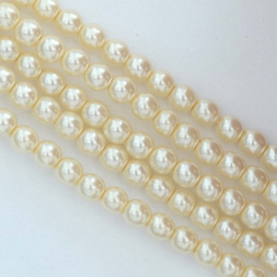 Glass Pearl Round Cream 2 3 4 6 8 10 12 mm Old Lace 10001 Czech Beads