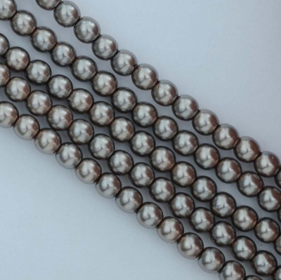 Glass Pearl Round Brown 2 3 4 mm Latte 10004 Czech Beads