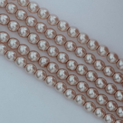 Glass Pearl Round Pink 2 3 4 6 mm Beige 10141 Czech Beads