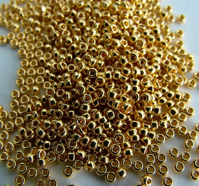 Miyuki Seed 0191 Gold  Size 15 11 8 6   24ct Gold Plated Bead 2g