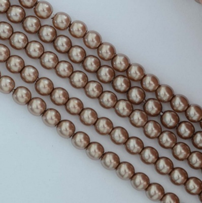 Glass Pearl Round Brown 2 3 4 6 8 mm Cocoa 70417 Czech Beads
