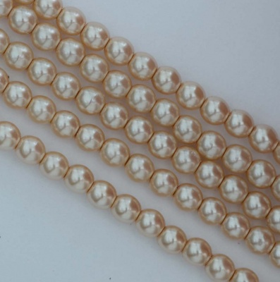 Glass Pearl Round Brown 2 3 mm Pale Desert Sand 70734 Czech Beads
