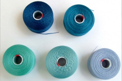 Thread Bead C-Lon S-Lon Size D or AA  5 Shades Blue