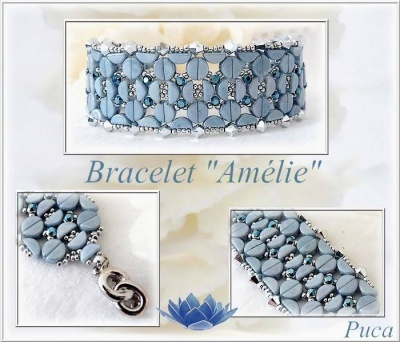Pattern Puca Bracelet Amelie uses Kos Foc with bead purchase