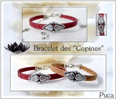 Pattern Puca Bracelet Copines uses Amos Foc with bead purchase