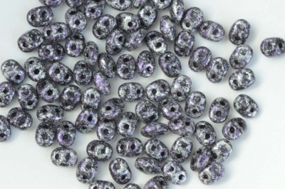 Superduo Purple Jet Tweedy Violet 23980-45710 Czech Beads x 10g