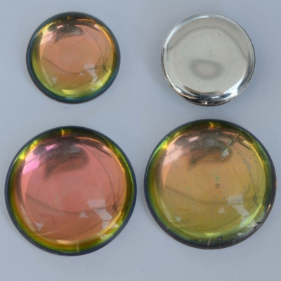 Cabochon Green Backlit Crystal Utopia 18mm 25mm 00030-28102 Czech Glass