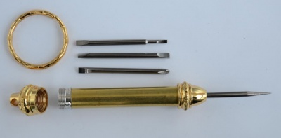 Beadable Screwdriver Mini Gold  Plated