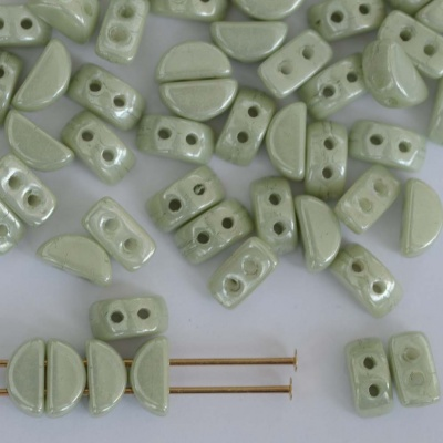 Kos Green Chalk Lt Green 03000-14457 Czech Glass Bead x 5g