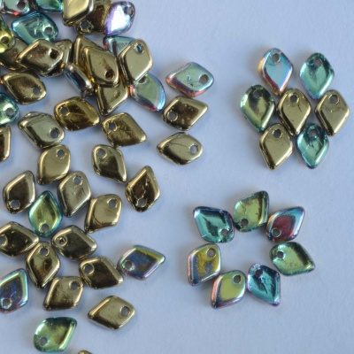 Dragon Scales Gold Crystal Golden Rainbow 00030-98536 Czech Glass Bead x 5g