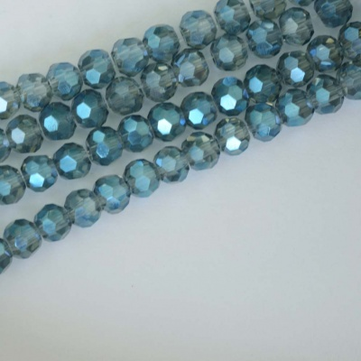 Crystal Faceted Round Blue  3  mm  Tr Electric Blue Chinese  Bead x 100