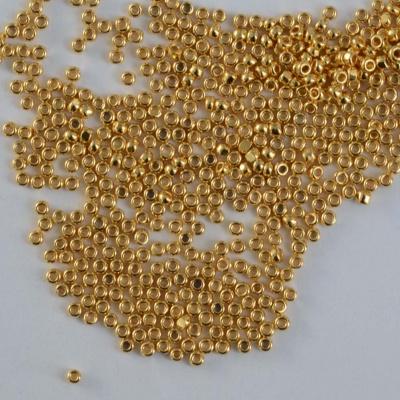 Charlotte Size 15 Gold Crystal 24ct Gold Plated 0030-35000 Czech Glass Bead x 2g