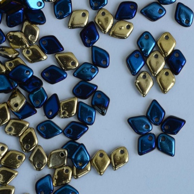 Dragon Scales Blue Jet California Blue 23980-98548 Czech Glass Bead x 5g