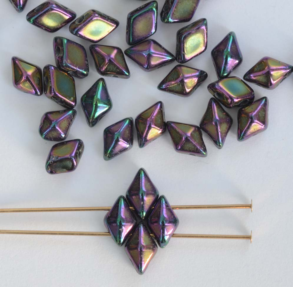 Diamonduo Black Jet 23980 Czech Glass Bead x 5g