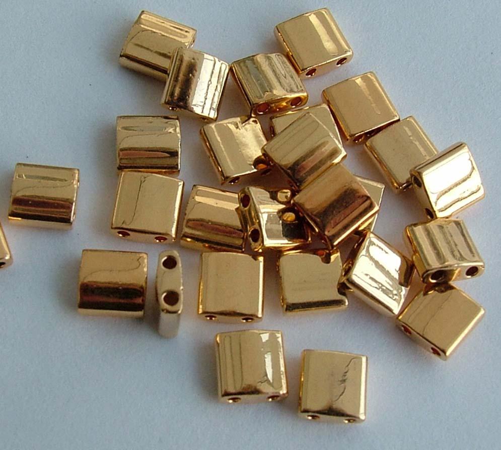 Miyuki Tila Silver TL-0194 Palladium Plated Bead 2g