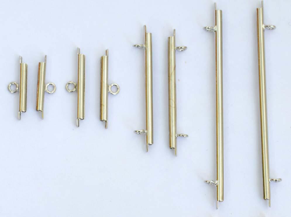 Gold-Silver-Plated-Miyuki-Slide-Tubes-15mm-20mm-35mm-60mm-x-1pr