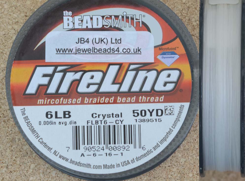 Thread-Fireline-Beading-2lb-4lb-6lb-8lb-10lb-14lb-Crystal-Smoke-Black-50yds