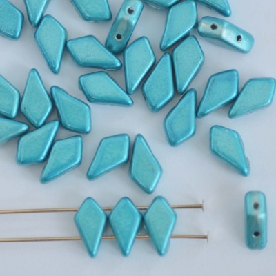 Kite Blue Jet Metalust Aqua  23980-24206 Czech Glass Bead x 10g