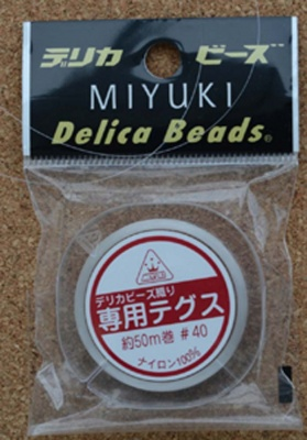 Thread Monofilament Nylon Miyuki 50meters .14mm dia x 1