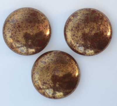 Cabochon Brown Op Chocolate Bronze 18mm 25mm 13603-15496 Czech Glass x 1