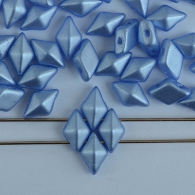 Diamonduo Blue Alabaster Pastel Lt Sapphire 02010-25014 Czech Glass Bead x 5g