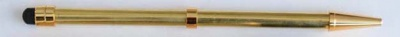 Beadable Pen Stylus Touch Screen Gold or Chrome Plated Rubber Tip Optional Grips