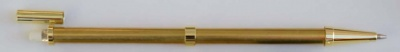 Beadable Pencil Gold or Chrome Plated with Optional Grips