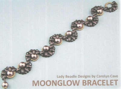 Pattern Moon Glow Bracelet  uses Half Moon  Foc with Bead Purchase