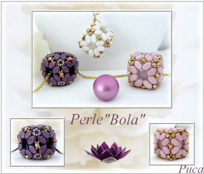 Pattern Puca Pendant Bola uses Paros, Foc with bead purchase