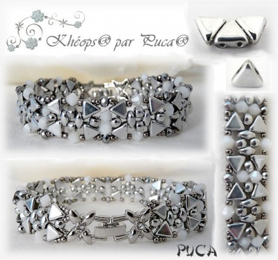 Pattern Puca Bracelet Clara, uses Kheops Foc with bead purchase