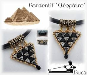 Pattern Puca Pendant Cleopatre uses Kheops Foc with bead purchase