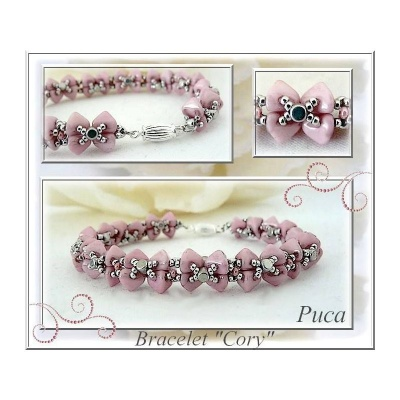 Pattern Puca Link Eley Bracelet or Earrings uses Kheops Foc with bead purchase
