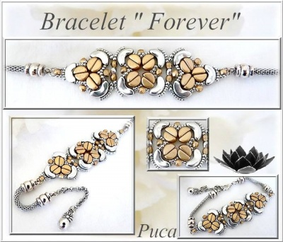 Pattern Puca Bracelet Forever uses Kos Arcos Foc with bead purchase