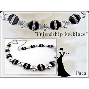 Pattern Puca Necklace Friendship uses Tinos Ios Foc with bead purchase