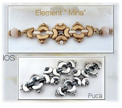 Pattern Puca Link Mina Bracelet Necklace uses Arcos Minos Ios Foc with bead purchase