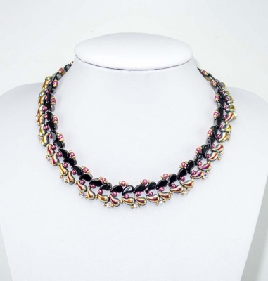Pattern Glass Beads Necklace Collar used Zoliduo Foc with Bead Purchase