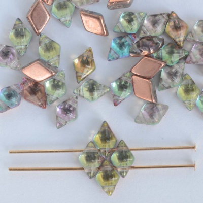 Diamonduo Green Crystal Prismatic Fiesta 00030-95833 Czech Glass Bead x 5g