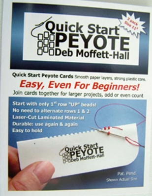 Quick Start Peyote Cards Size 15, 11, 8, 6 Seed & Cylinder Beads Assorted